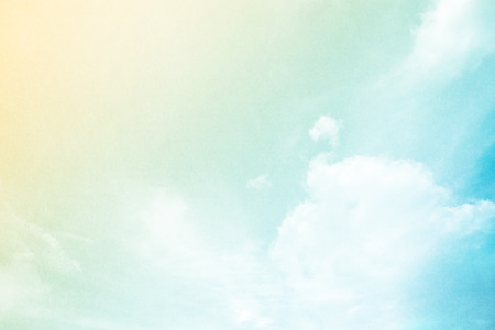 cloudscape: abstract background, pastel gradient color with grunge paper texture and cloudscape