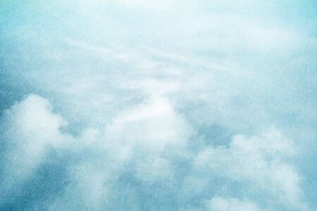 artistic designed: fantastic fluffy cloud and sky abstract background with grunge  texture Stock Photo