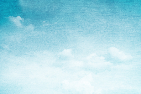 blue vintage background: fantastic soft cloud and sky abstract background with grunge  texture Stock Photo