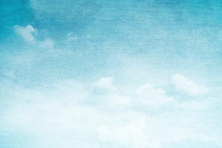 ciel avec nuages: fantastique doux nuage et le ciel abstrait avec grunge texture Banque d'images