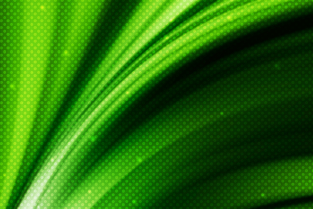 abstract green  curve line background with polka dot Stock Photo