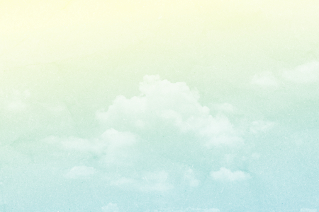 blue and green: cloud and sky in pastel color abstract background with grunge paper  texture