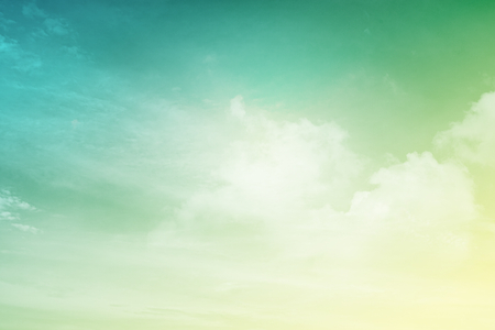 fantasy cloud and sky in gradient color abstract background
