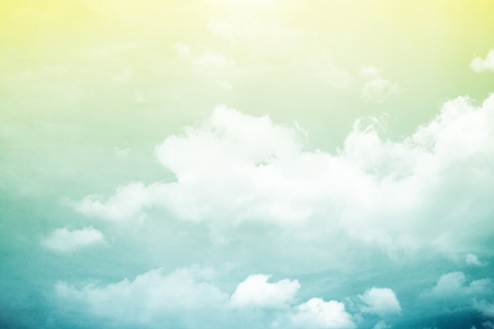 artistic cloud and sky with gradient color