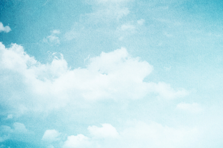 paper craft: artistic cloud and sky with grunge paper texture Stock Photo