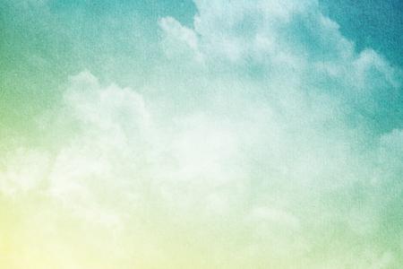 fondos azules: art�stica suave nube y el cielo con el papel del grunge textura Foto de archivo