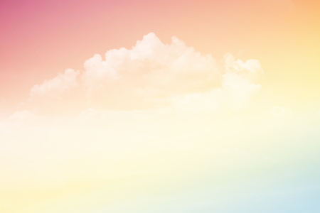 fantasy soft cloud and sky with gradient color