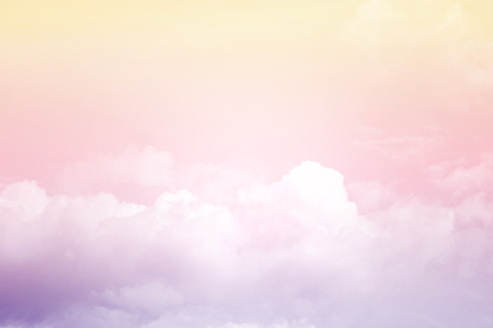soft cloud and sky with pastel gradient color