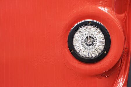 tail light: rear tail light of red car Stock Photo