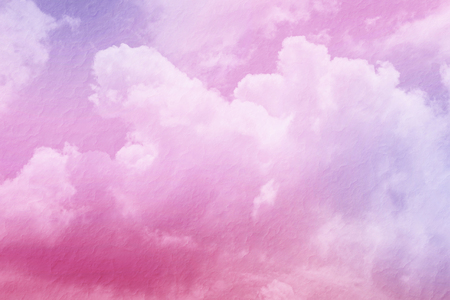 mulberry paper: fantasy sky and cloud with pastel gradient color and mulberry paper texture