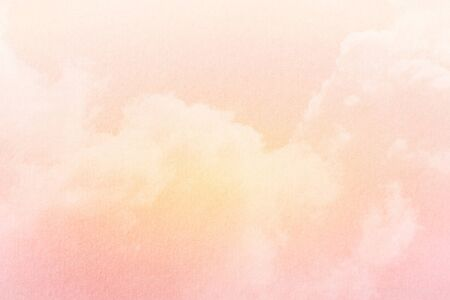 orange texture: fluffy cloud and sky with pastel gradient color and grunge texture