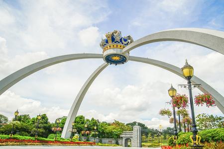 JOHOR, MALAYSIA - APRIL 10, 2017 : Royal Crown of Johor replica. Pontiac,Johor,Malaysia