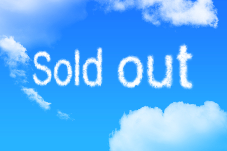 sold out cloud text on blue sky