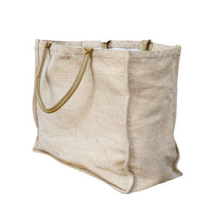 Jute tote bag isolated on white background with clipping path 写真素材