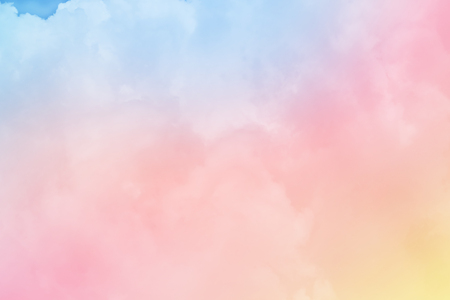 Fantasy cloudy sky with pastel gradient color, nature abstract background