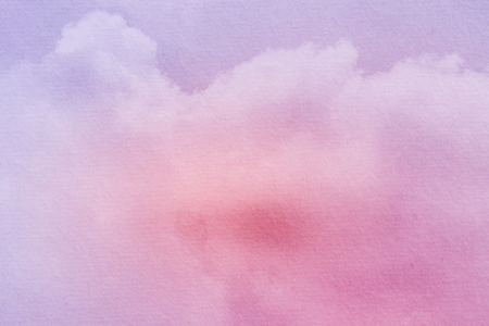 Fantasy cloudy sky with pastel gradient color and grunge texture, nature abstract background Stock Photo