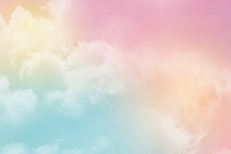 Fantasy cloudy sky with pastel gradient color with, nature abstract background