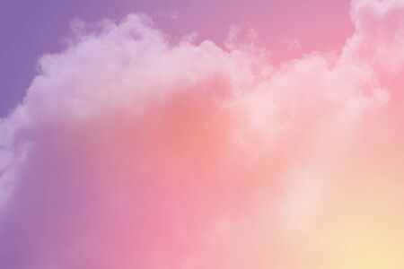 Fantastic cloudy sky with pastel gradient color, nature abstract background
