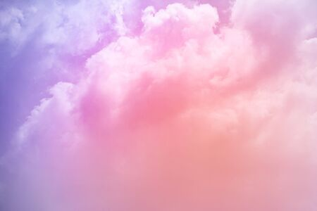 artistic cloudy sky with gradient color , nature abstract background