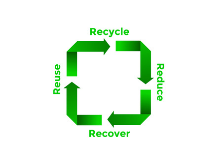 reduce: Recycle Reduce Reuse Recover Image Illustration