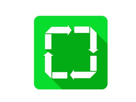 recover: Recycle Reduce Reuse Recover Flat Shadow Icon