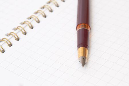 Pen and notebook Stock Photo - 12056615
