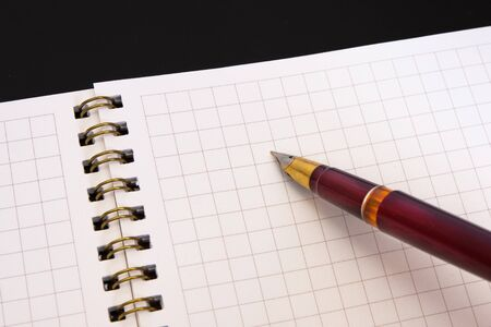 Pen and notebook Stock Photo - 12056625