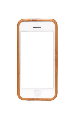 iphon: New realistic mobile phone smartphone iphon style mockup with blank screen