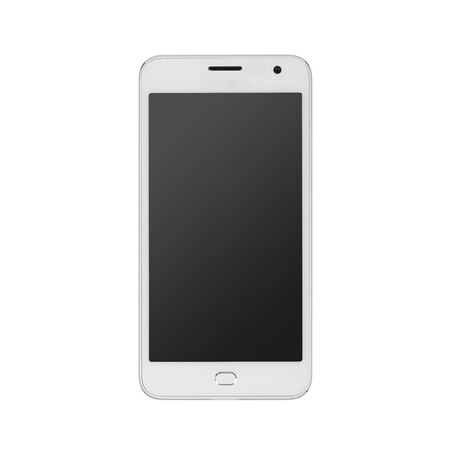 android tablet: Modern white touchscreen android cellphone tablet smartphone isolated on light background. Empty screen