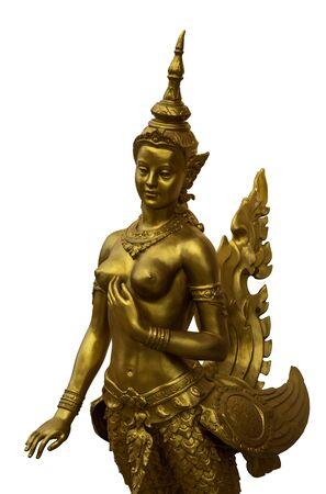 Isolate thai golden angel on white background photo