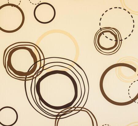 Circle Brown Wallpaper Coffee Shop Style Stock Photo