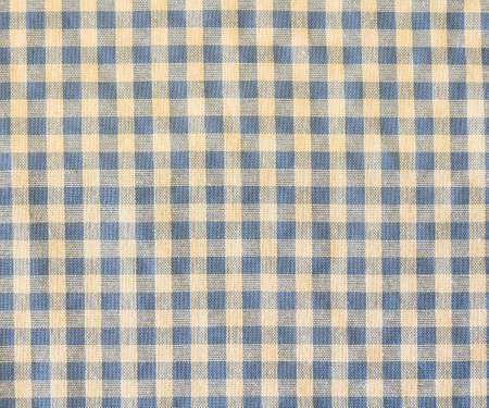 blue plaid: Texture of blue plaid fabric as background Stock Photo
