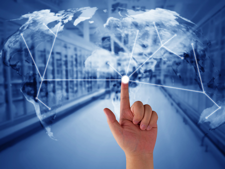 Global trading network, supply chain management concept, logistic import and export,