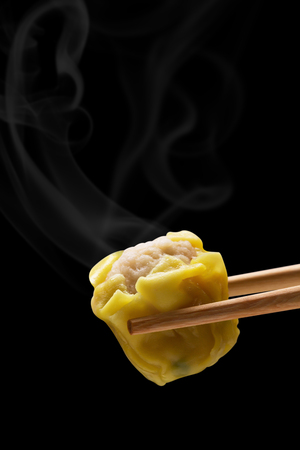 Sluit dim sum en rook, traditioneel Chinees voedsel Stockfoto
