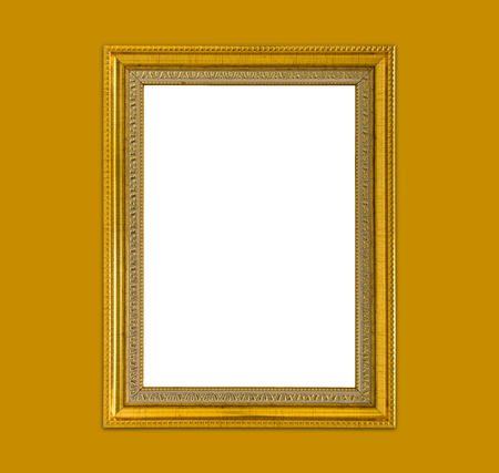 Golden Luxury Frame Background, Vintage And Retro Fotos, Retratos ...