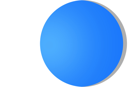 White circle frame on blue background