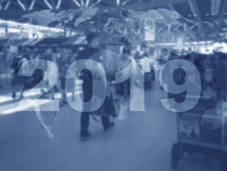 New year concept background, road to 2019, future ahead Stock Photo