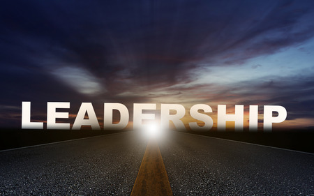 Road to business leadership and success concept, team management