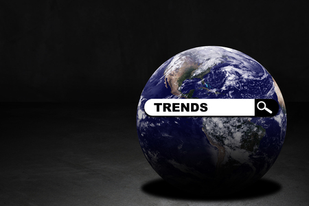 Business trends concept, digital search on the internet