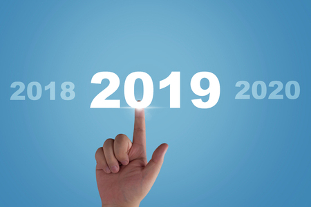 New year concept background, 2019, future ahead