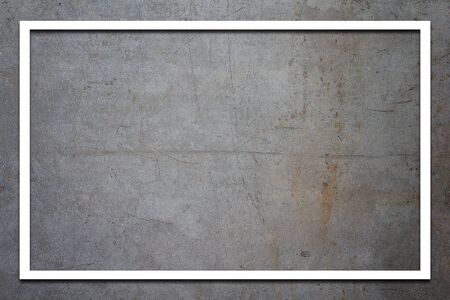 White paper frame and copy space on grunge concrete texture background, communication concept Stok Fotoğraf