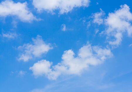 Clear blue sky and cloud, nature background concept