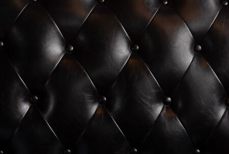 Black leather texture background, vintage and retro Stok Fotoğraf