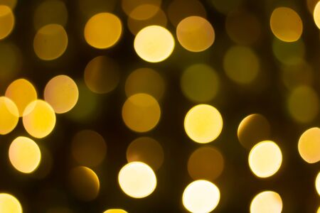 Beautiful yellow light circle bokeh abstract background