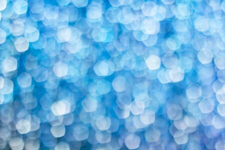 Beautiful blue, cyan light circle bokeh abstract background, winter concept Stok Fotoğraf