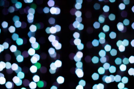 Beautiful blue light circle bokeh abstract background