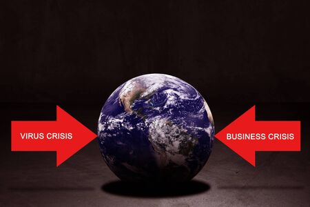 World crisis concept, virus outbreak and business crisis, Elements of this image furnished by NASA Stok Fotoğraf