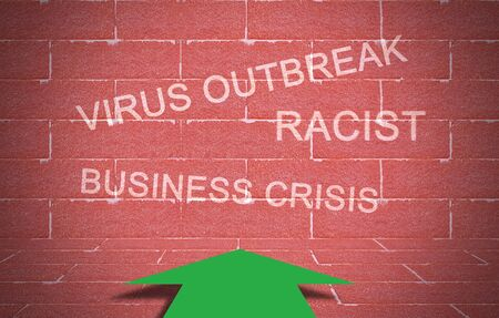 World crisis concept, virus outbreak and business crisis Stok Fotoğraf
