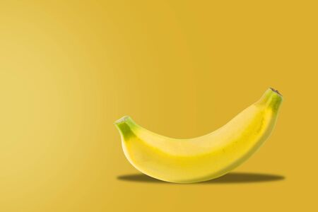 Fresh banana on yellow background, fruit concept Stok Fotoğraf