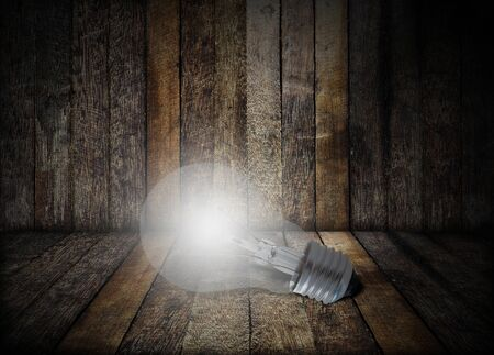 Creative idea concept, light bulb on dark background Stok Fotoğraf